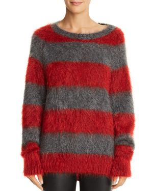 T BY ALEXANDER WANG TEXTURED STRIPED SWEATER