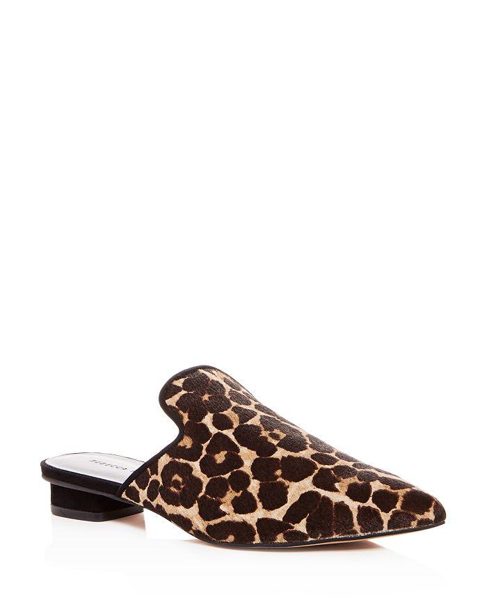 6b9c4834f5b05 Rebecca Minkoff Women s Chamille Too Leopard Print Calf Hair Mules ...