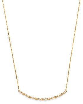 Bloomingdale's - Diamond Milgrain Bar Necklace in 14K Yellow Gold, 0.20 ct. t.w. - 100% Exclusive
