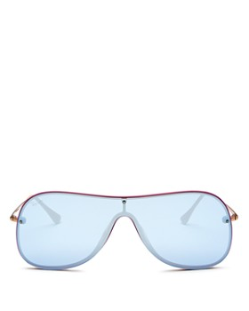 Ray-Ban - Women's Mirrored Shield Sunglasses, 142mm