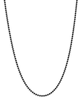 """Dodo - Sterling Silver Everyday Chain Ball Chain Necklace, 19.6"""""""