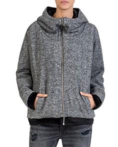 The Kooples - Reversible Fleece & Velvet Sweatshirt