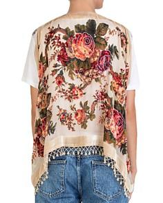 The Kooples - Burnout-Velvet Floral Vest