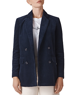 Whistles Corduroy Double-Breasted Blazer