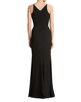 Dress the Population - Iris Plunging Fluted Gown