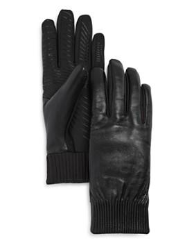 U/R - Elasticized Faux Fur-Lined Tech Gloves