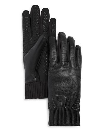 U R - Elasticized Faux Fur-Lined Tech Gloves