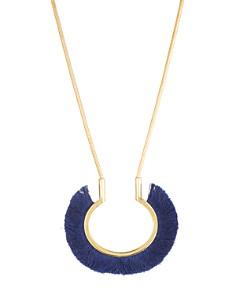 """Trina Turk - Fringe Pendant Necklace, 17"""""""