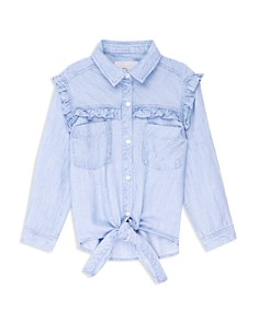 Rails - Girls' Sully Ruffled Tie-Front Shirt - Little Kid, Big Kid