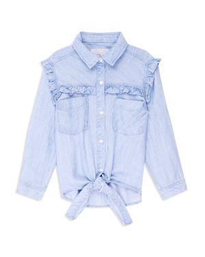 Rails Girls' Sully Ruffled Tie-Front Shirt - Little Kid, Big Kid