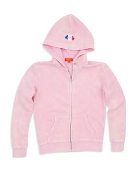 Butter - Girls' Mineral Wash Embellished Paris Hoodie - Little Kid