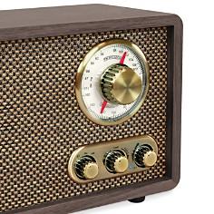 Innovative Technology - Victrola Retro Wood Bluetooth FM/AM Radio with Rotary Dial