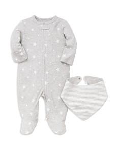 Little Me - Unisex Star-Print Footie & Striped Bib Set - Baby