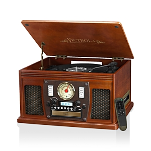 Innovative Technology Victrola Wood 8-in-1 Nostalgic Bluetooth Record Player