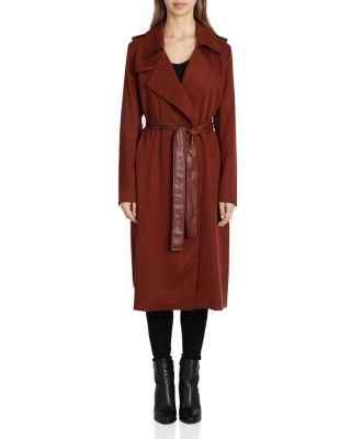 Angelina Belted Trench Coat by Badgley Mischka