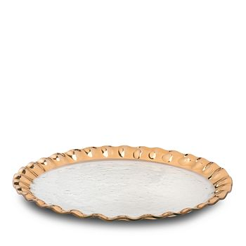 Annieglass - Ruffled Round Entertaining Platter