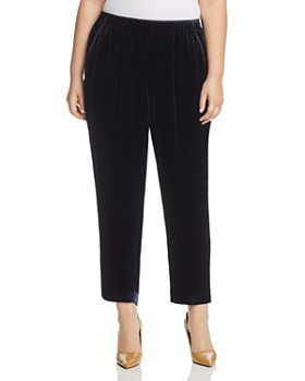 Lafayette 148 New York Plus - Piped Velvet Track Pants