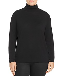 Lafayette 148 New York Plus - Modern Mock Neck Sweater