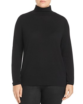 Lafayette 148 New York Plus - Modern Mock Neck Sweater