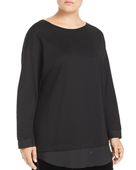 Lafayette 148 New York Plus - Knox Layered Look Top