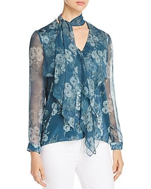 Elie Tahari Jurnee Floral Silk Blouse