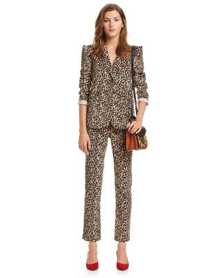 Leopard-Printed Velvet Blazer