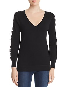 Le Gali - Lorina Lace-Trimmed Sweater - 100% Exclusive