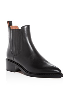 COACH - Women's Bowery Leather Pointed Toe Block-Heel Booties