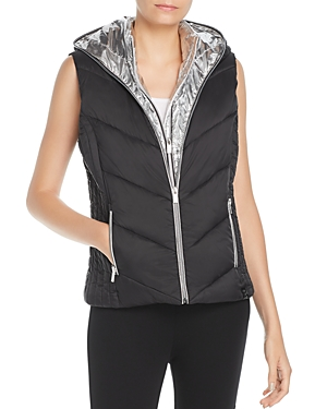 Marc New York PERFORMANCE LAYERED FRONT HOODED PUFFER VEST