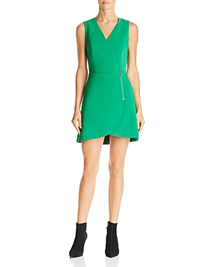 Alice + Olivia Lennon Zip Detail Mini Dress
