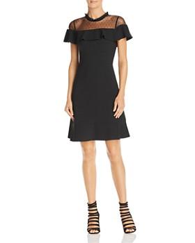 Nanette Lepore Ruffled Illusion Dress