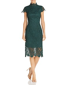 Laundry by Shelli Segal - Embroidered Lace Illusion Dress