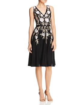 Aidan Mattox - Sequined Floral Velvet Dress
