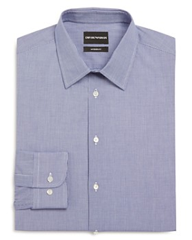 Armani - Micro Check Modern Fit Dress Shirt