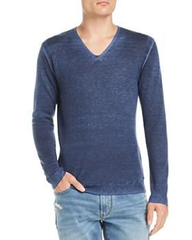 John Varvatos Star USA - Faded V-Neck Pullover Sweater
