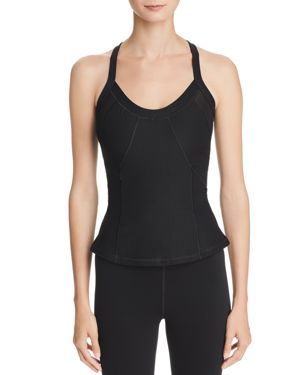 EVERLAST Mesh-Inset Compression Tank in Black