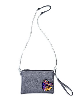 GiGi - Girls' Glitter & Sequin Heart Patch Wristlet - 100% Exclusive