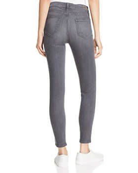 PAIGE - Hoxton High-Rise Ankle Skinny Jeans in Gray Peaks