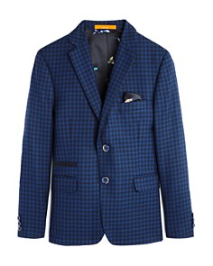 Tallia - Boys' Plaid Sport Jacket - Big Kid