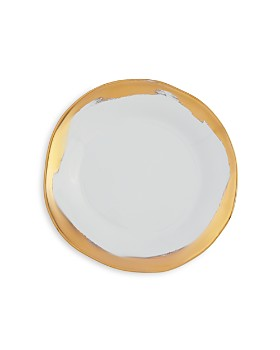 VIETRI - Gold Brushstroke Salad Plate - 100% Exclusive