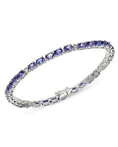 Bloomingdale's - Tanzanite & Diamond Bracelet in 14K White Gold - 100% Exclusive