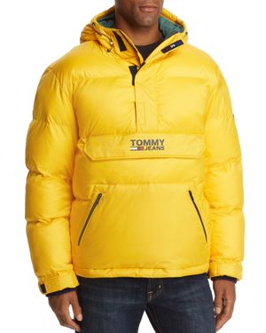 TOMMY JEANS Pullover Puffer Jacket in Yellow