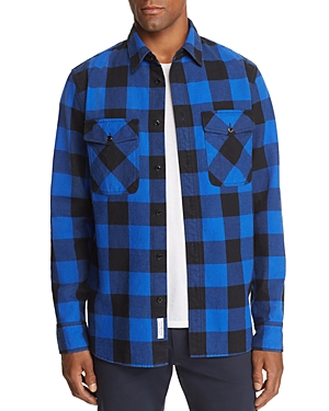 rag & bone Principle Plaid Denim Shirt Jacket - 100% Exclusive