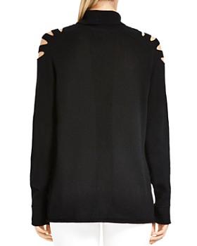HALSTON HERITAGE - Cutout Turtleneck Sweater