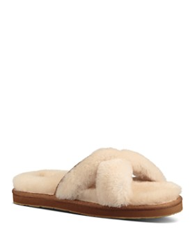 UGG® - Women's Abela Open Toe Sheepskin Slide Sandals ...
