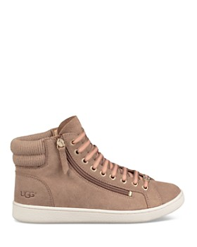 UGG® - Women's Olive Leather High Top Sneakers