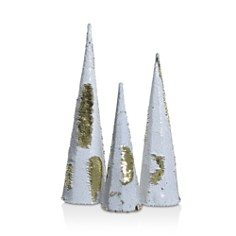Kaemingk - Two-Tone Sequin Cones, Set of 3