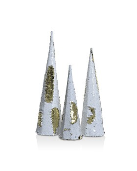 Kaemingk - Two-Tone Sequin Cones, Set of 3