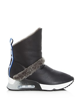 Ash - Women's Laika Shearling Wedge Platform Boots
