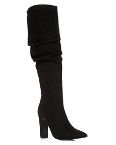 JAGGAR - Women's Slouch Pointed Toe High-Heel Boots